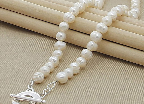 Freshwater Pearl Necklaces 925 Silver Necklaces Jewelry for Women