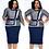 Thumbnail: African Dresses Dashiki Bazin Riche African Ladies Clothing Autumn Office Dress