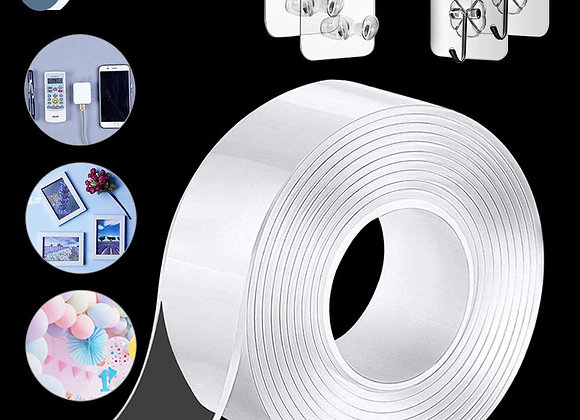 1m/2m/3m/5m Double-Sided Nano Magic Tape Double Sided Tape Transparent