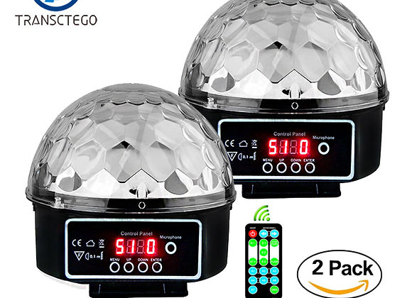 2PCS Disco Light Led Stage Lamp Laser Christmas Lights Lumiere DMX Moving Head