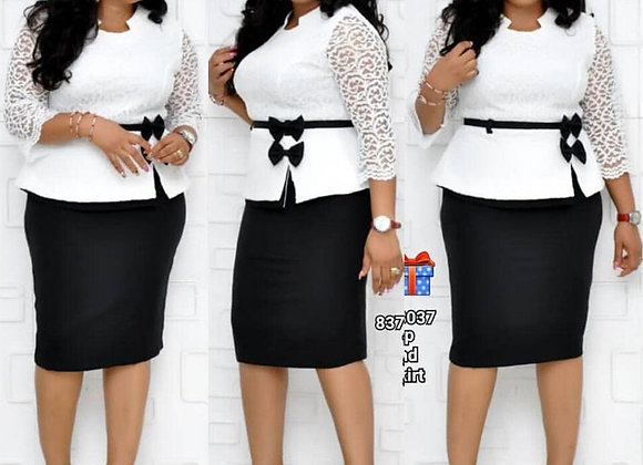 African Dresses for Women Fake e Set Dashiki Print Lace Skirt Dress Autumn