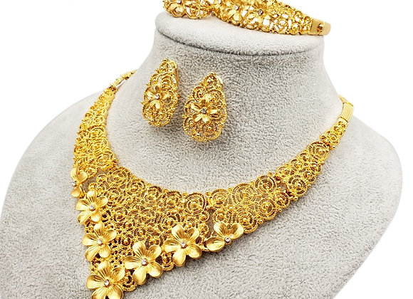 Dubai Gold Jewelry Sets African Bridal Wedding Gifts for Women