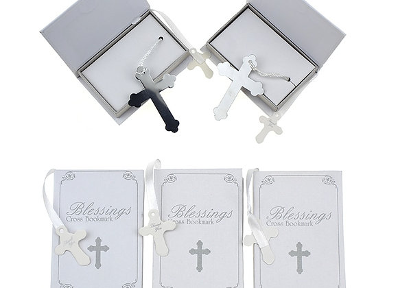 10 Pcs Silver Cross Bookmark in Book Religious Party Giveaway Gift for Guest Bo