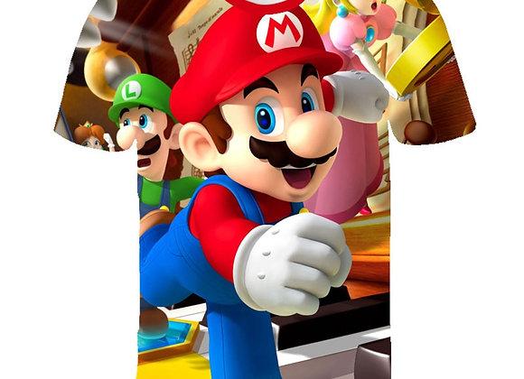 2021 Summer Fashion Child T-Shirt Drugs&weed T Shirt Cartoon Super Mario 3D