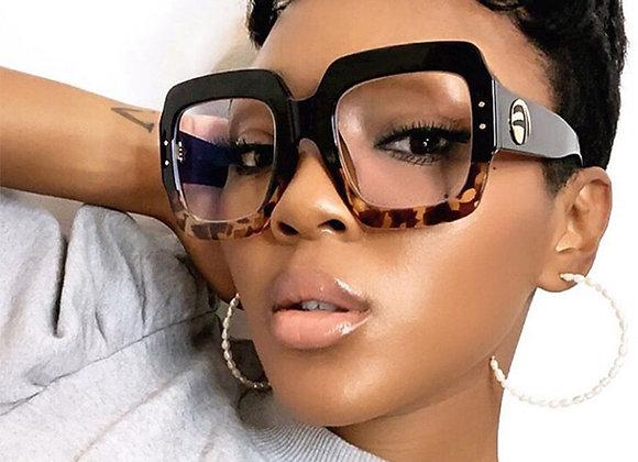 2020 Anti Blue Light Oversized Glasses Frame Women Fashion Luxury Brand Square