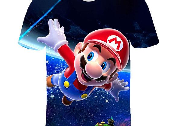 Cool Cartoon Super Mario Sonic 3D Design T-Shirt Kids Summer T Shirt Youth