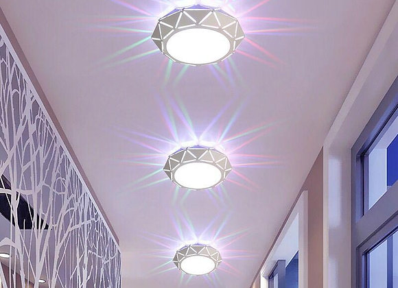 5w Modern LED Crystal Ceiling Light Circular Mini Ceiling Lamp Luminarias Rotund