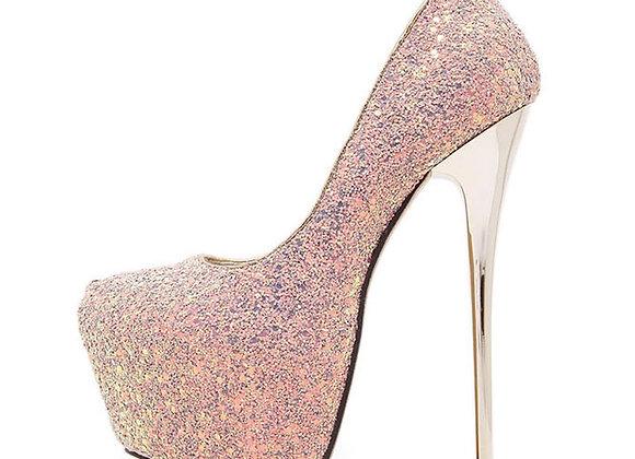 Eilyken 2021 New Platform Ultra High Heels Woman Shoes Sexy Bling Pumps Party