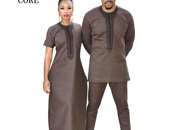 African Clothing for Couple Soft Material Free Shipping Dashiki African Bazi