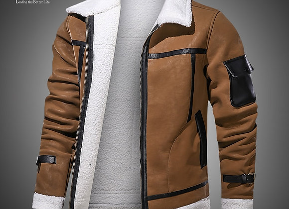 Eur/Us Size Mens Casual Faux Leather Jacket Motorcycle PU Coats Winter Outerwear