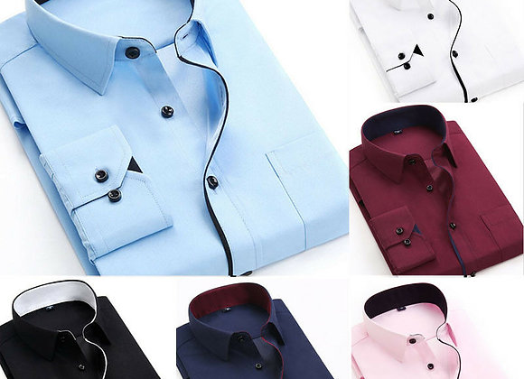 Fashion Men's Stylish Shirt Smart Casual Shirt Business Men Slim Fit Long Sleeve