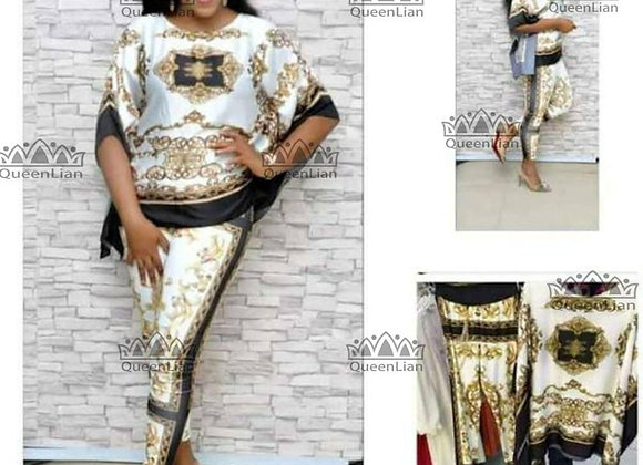 African  Dashiki New  Fashion Suit (Top and Trousers) Super Elastic