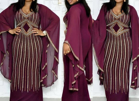 African Dresses for Women Slim African Dress Clothes Diamond Dashiki Ladies