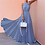 Thumbnail: Boho Long Maxi Dresses Sleeveless Backless Halter Blue Striped Dress Vestidos