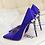 Thumbnail: Elegant Metal Carved Heels Women Pumps High Quality Fashion Silk High Heels