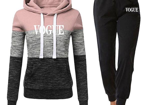2 Piece Set Tracksuit Women Winter Print Hoodies+Pants Sportwear Women's Sports