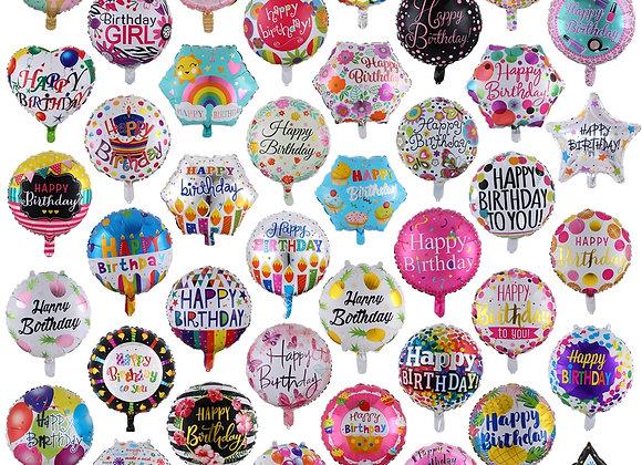 10 Pcs 18 Inch Happy Birthday Balloons Helium Foil Globos for Girls Kids Birthda