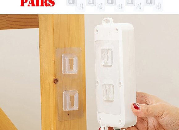 Double-Sided Adhesive Wall Hooks Hanger Strong Transparent Hooks Suction Cup S
