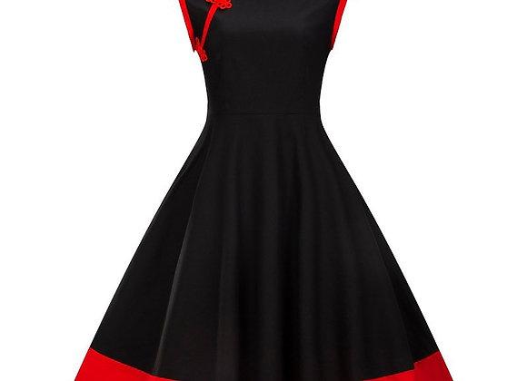 3XL 4XL Plus Size Women Clothing Pin UP Vestidos Summer Retro Casual Party Robe