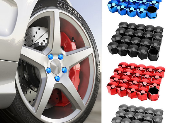 17mm 20 Pieces Car Wheel Nut Caps Protection Covers Caps Anti-Rust Auto Hu