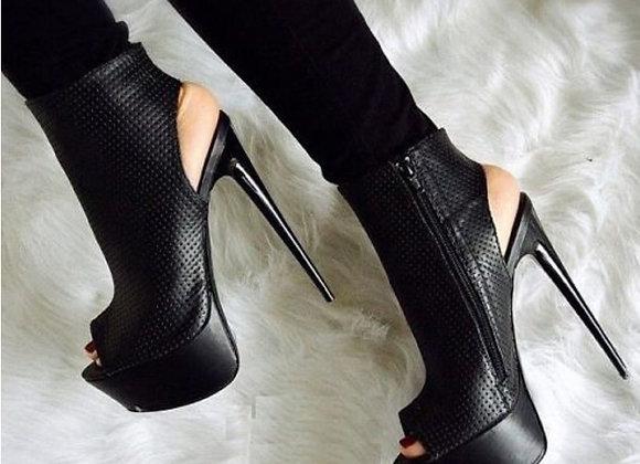 Eilyken Fashion Women Sandals Pumps Shoes Peep Toe Cut-Outs Shoes Sexy High Heel