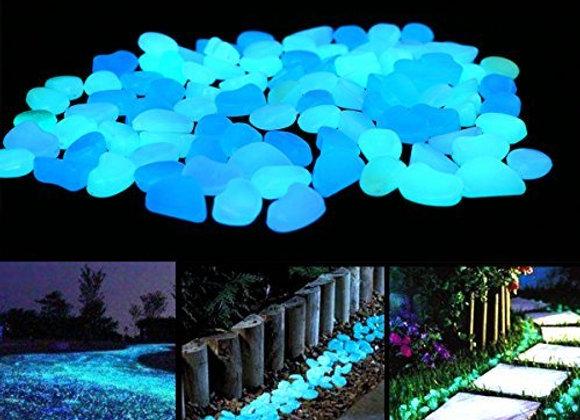 Fish Tank Rocks Glow Blue/Glow in the Dark Pebbles for Garden/Fish Tank/Aquarium