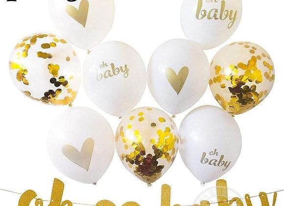 10pcs 18inch Gender Reveal Foil Balloon Boy or Girl Birthday Party Decor Newborn