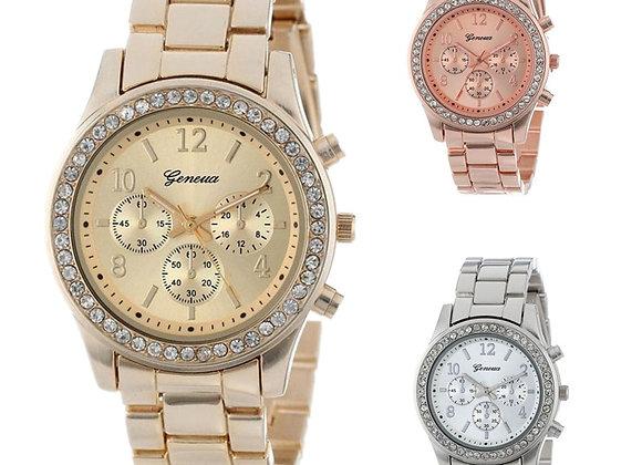 2019 New Geneva Classic Luxury Rhinestone Watch Women Watches Fashion Ladies