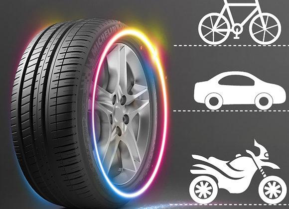 FORAUTO 2PCS Car Wheel LED Light Motocycle Bike Light Tire Valve Cap Decorative