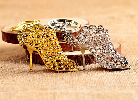 1PC Women New Creative Hollow Out High Heel Shoes Keychain Clothing Bag Accessor