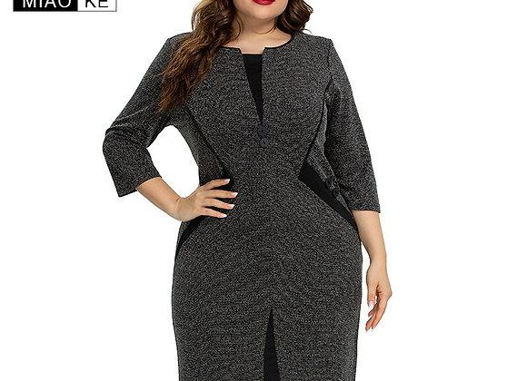 2020 Autumn Womens Plus Size Vintage Dress Fashion Ladies Elegant Dress