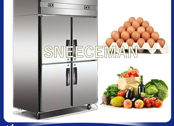 Commercial Kitchen Equipment Stainless Steel 4 Doors Upright Freezers