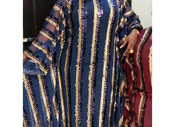 8 Colors African Dresses for Women Plus Size Dashiki Full Sequined African Cloth