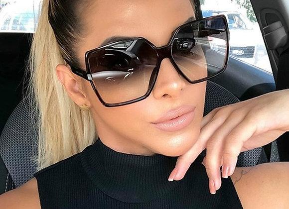 Fashion Oversize Sunglasses WomenGradient Plastic Brand Designer Female Sun