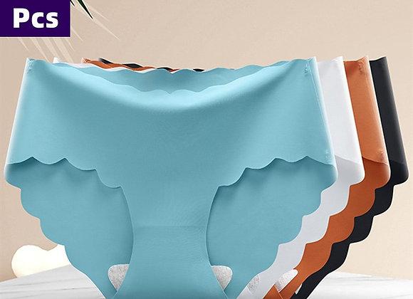 3 Pcs/Set Solid Ladies Women Panties Ice Silk Underwear G String Traceless Panti
