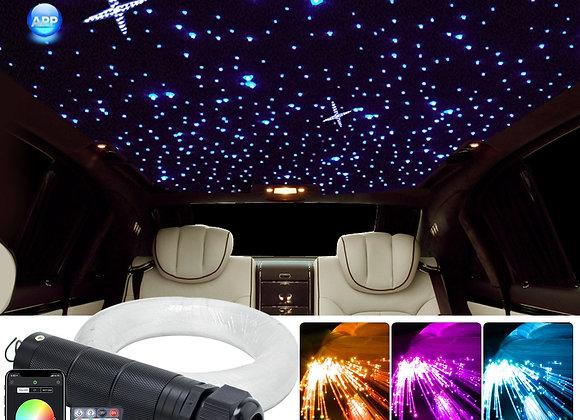 DC12V 6W RGB  Car Roof Star Lights LED Fiber Optic Star Ceiling Light Kits  2M 0