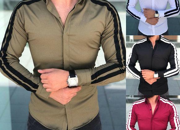 Arrival Long Sleeve Mens Shirts Button Up Business Work Smart Formal Plain