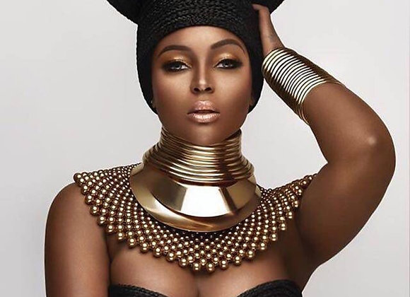 African Bib Torques Chokers Necklaces for Women Statement Metal Geometric Collar