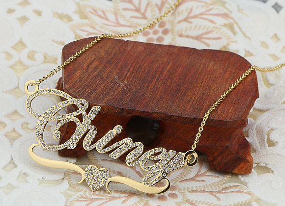 DOREMI Stainlesss Custom Name Necklaces Pendant Letters Necklace Women Custom