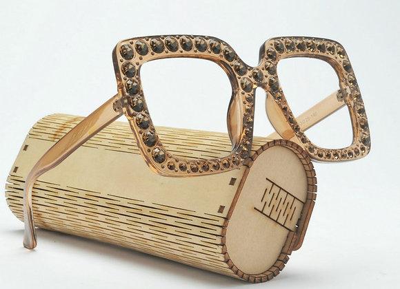 Crystal Frame Fashion Female Reading Glasses Retro Hyperopia Anti-Fatigue Diopte