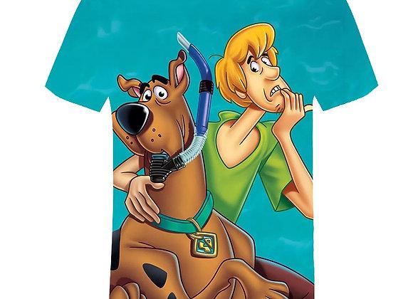 3D Cartoons Print T Shirt Kids Scooby Doo Boys Clothes Tops Animal T Shirt Girls