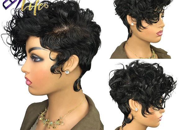 4X4 Lace Closure Wig Curly 250% Short Bob Pixie Cut Lace Front Human Hair Wig
