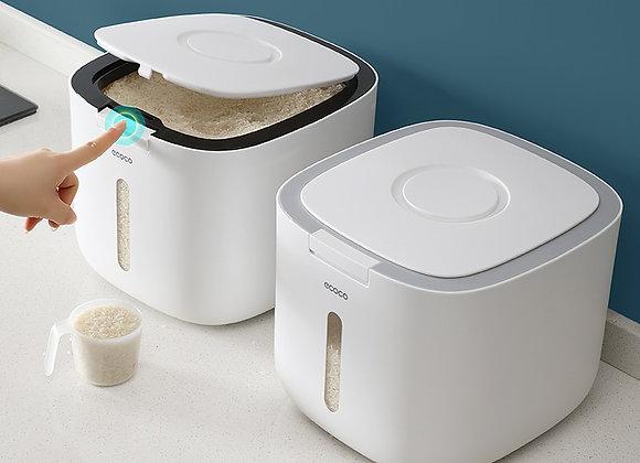 10KG Kitchen Storage Box Grain Storage Jar Moisture-Proof Sealed Organizer Rice