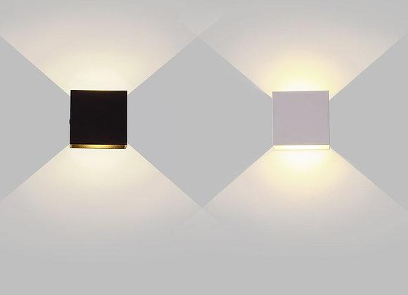 6W 12W Lampada LED Aluminium Wall Light Rail Project Square LED Wall Lamp Be