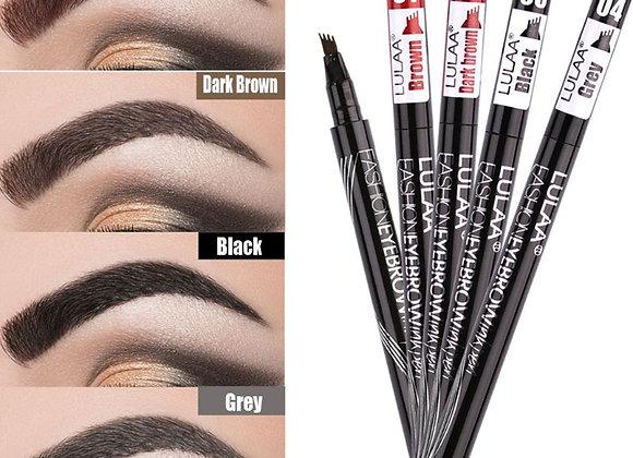 2g Natural Waterproof Tattoo Eyebrow Ink Pen Four-Claw Eye Brow Tint Brush Penci