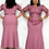 Thumbnail: African Women O-Neck Polyester Plus Size Long Dress African Clothing African