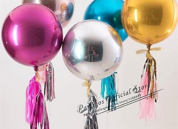 3pcs Rose Gold 4D Foil Balloons 18/22/32 Inch Helium Globos Rainbow Metallic