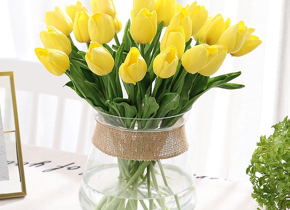 31Pcs/Lot Tulips Artificial Flowers PU Calla Fake Flowers Real Touch Flowers