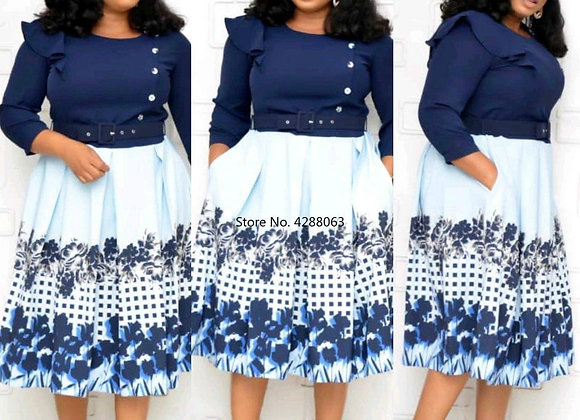 African Women Printing Plus Size Dress African Dresses for Women African