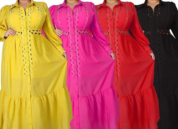 5XL Christmas Robe Femme African Dresses for Women Maxi Dresses Plus Size